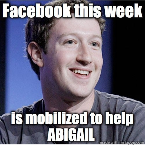 Facebook This Week Is Mobilized To Help Abigail