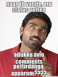 Naan Fb Vande Oru Status Potten Vijay Sethupathi Comment