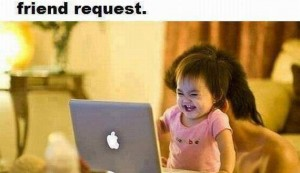 Facebook Friend Request Of Funny Baby