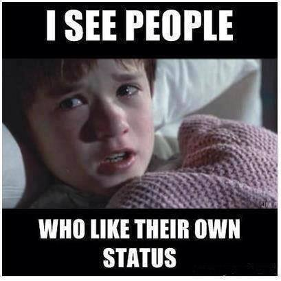 I See People Who Like Their Own Status
