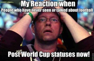 My Reaction When People Who Never Seen or Talked About Football