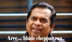 Arre Bhale Cheppav Ra Brahmanandham Comment