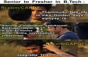 Senior To Fresher In B.Tech