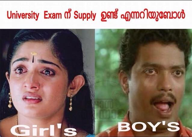 Exam Girls And Boys Malayalam Joke