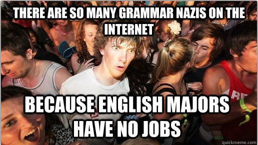 There Are So Many Grammar Nazis On The Internet